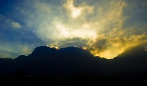 Mountain and light